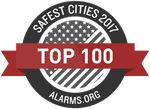 Top 100 Safest Cities badge