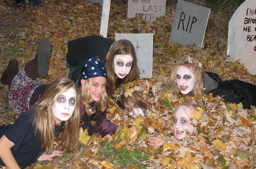 Kids dressed up for the Haunted Forest