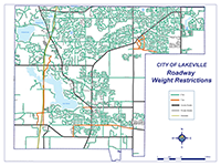 Map of roadway weight restrictions