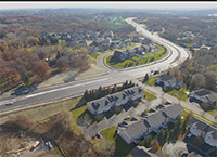 aerial shot of newly opened County Road 50